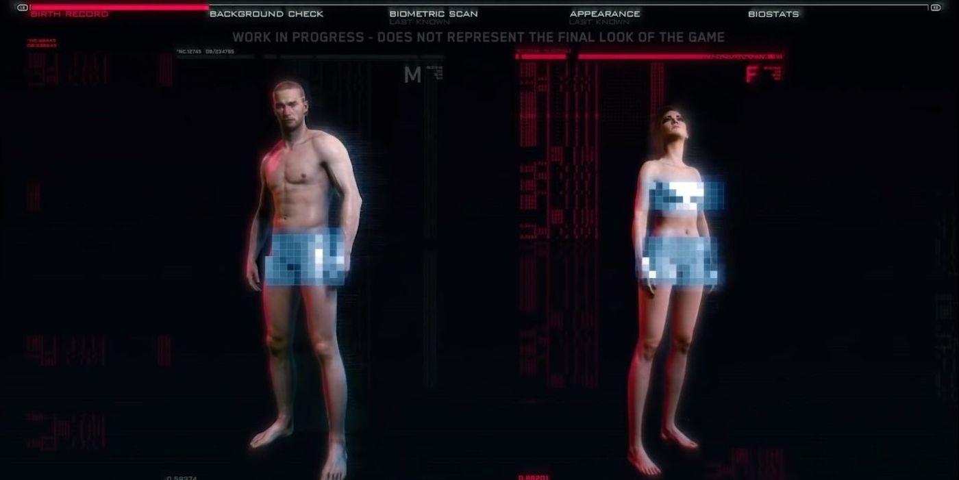 Cyberpunk 2077 Character Customization Removes Gender Choice