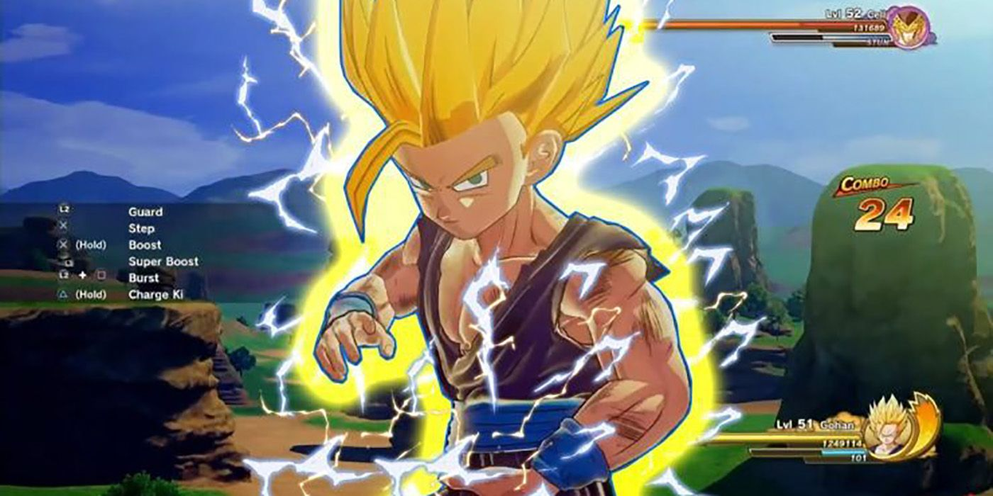Dragon Ball Z: Kakarot Gameplay Shows Super Saiyan 2 Gohan vs. Cell