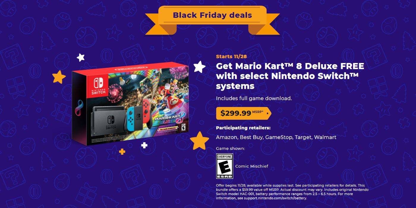 Nintendo Black Friday Sales Prices Revealed Game Rant