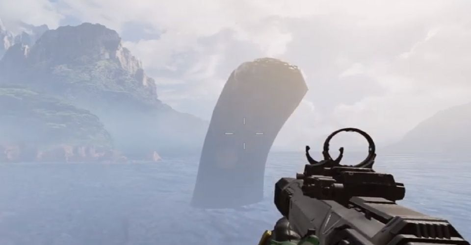 Giant Nessy Easter Egg in Apex Legends' Kings Canyon Map