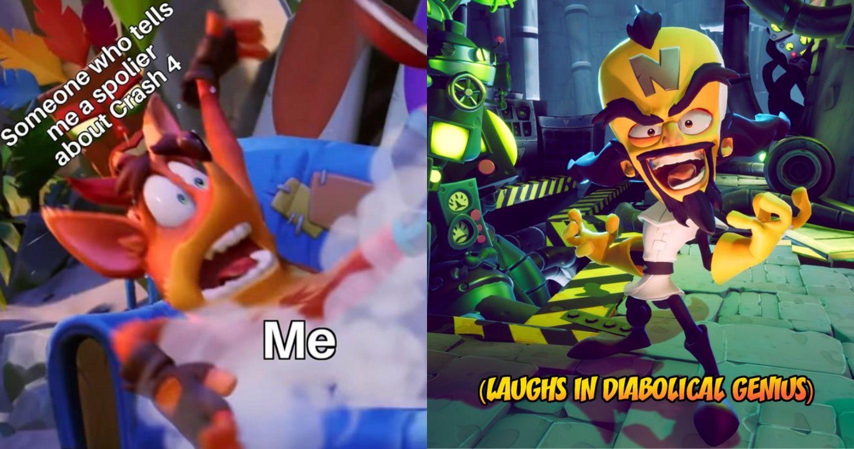10 Funniest Crash Bandicoot 4 Memes | Game Rant