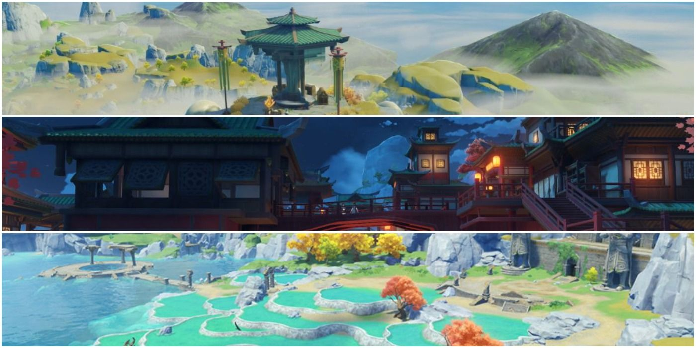 Most Breathtaking Locations In Genshin Impact   Game Rant