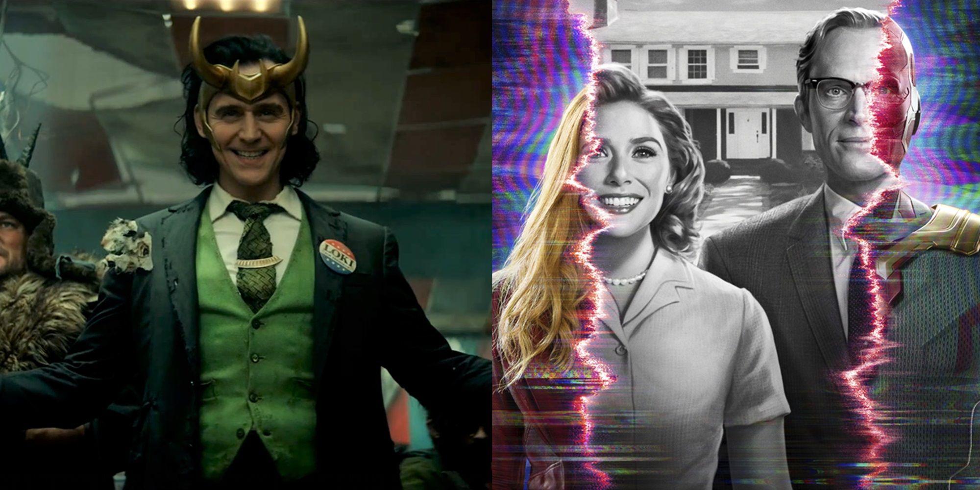 Loki e WandaVision / Reprodução: Marvel Studios