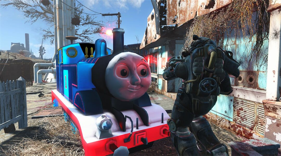 Fallout 4 Mod Turns Deathclaws into Thomas the Tank Engine