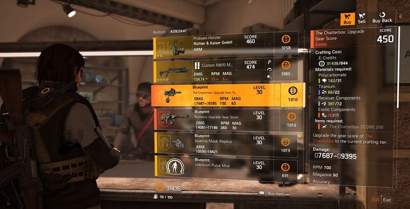The Division 2: How to Get Exotic Components and Upgrade Exotics